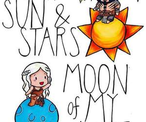 game of thrones, khaleesi, and moon image