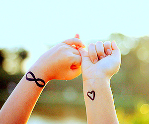 hands, heart, and infinity image