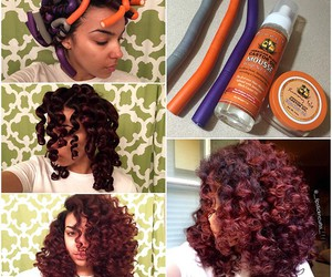 curly, hair, and natural image