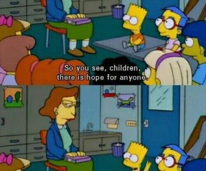 simpsons, hope, and bart image