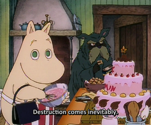 destruction, moomins, and cartoon image