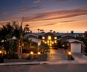 house, luxury, and sunset image