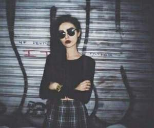 grunge, girl, and black image