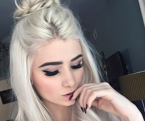 hair, tattoo, and makeup image