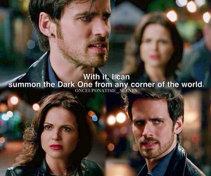 once upon a time, captain hook, and regina mills image
