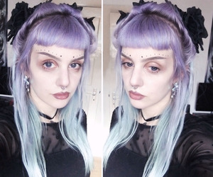 alt girl, pastel, and purple hair image