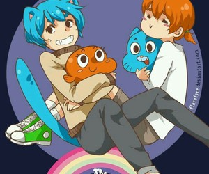 amazing world of gumball, gumball watterson, and darwin watterson image
