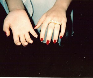 red, hands, and indie image