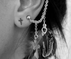 chain, cross, and ear cuff image