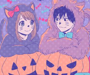 anime, Halloween, and orange image