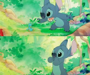 stitch, disney, and bird image