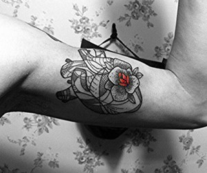 boy, heart, and rose image