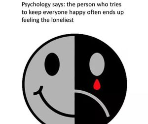 happy and lonely image