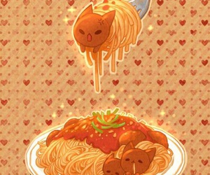 cat and spaghetti image
