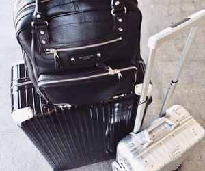travel, black, and luggage image