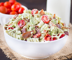 avocado, bacon, and food image