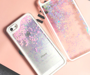 phone, pink, and cute image