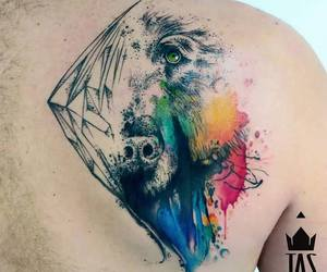 dog, tattoo, and tattooed image
