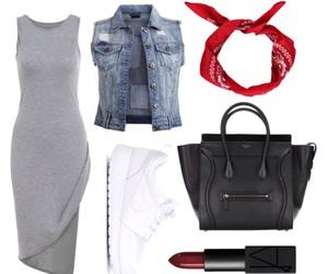 bag, bandana, and black image