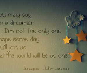 imagine, dreamer, and john lennon image