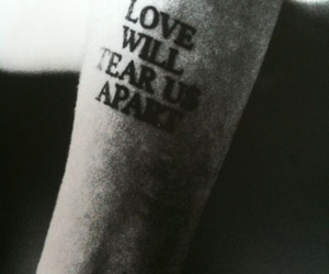 tattoo, love, and joy division image