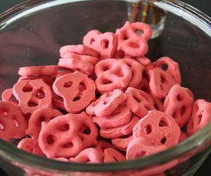 pink, food, and pretzel image