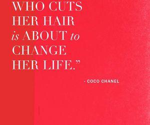 coco chanel, quotes, and hair image