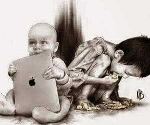 child, sad, and apple image