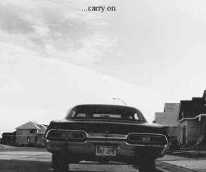 supernatural, impala, and black and white image