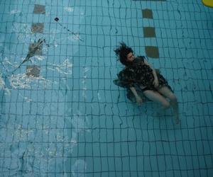 girl, pool, and grunge image