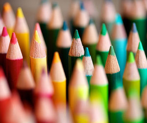 colorful, colors, and pencil image