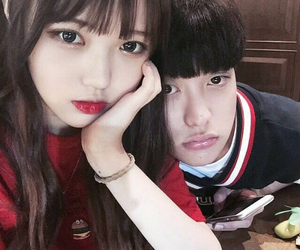 ulzzang, korean, and couple image