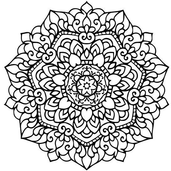 Mandala Adult Coloring Page Printable PDF от ...