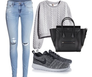 celine, nike, and outfit image