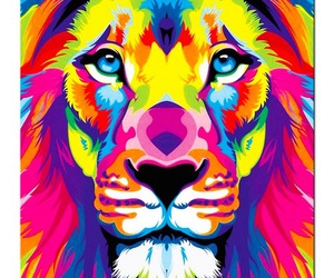 abstract, draw, and lion image