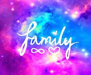 family, galaxy, and love image