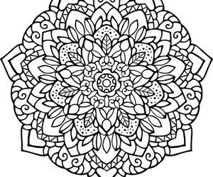 Adult, art therapy, and mandala image