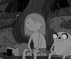 life, adventure time, and sucks image