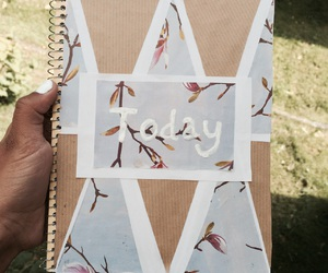 diy, flowers, and notebook image