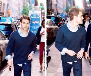 handsome, paul wesley, and tvd image