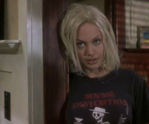 Angelina Jolie, blonde, and grunge image
