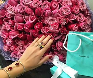 flowers, nails, and roses image