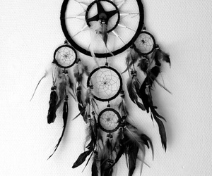 black, dreamcatcher, and dreams image