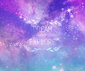 Dream, galaxy, and purple image