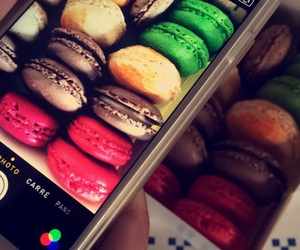 french, iphone, and macaron image