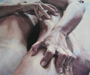 art, body, and painting image