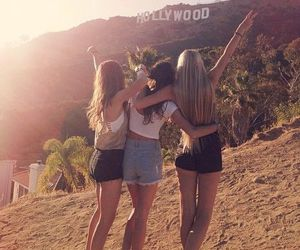 hollywood, friends, and girl image