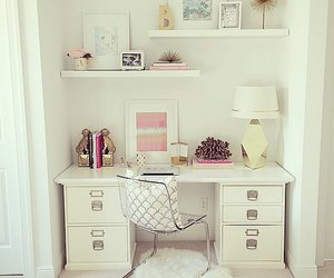 desk, lamp, and picture image