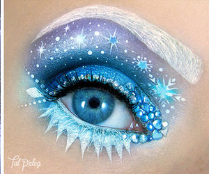frozen, art, and eyes image