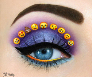 emoji, makeup, and eyes image